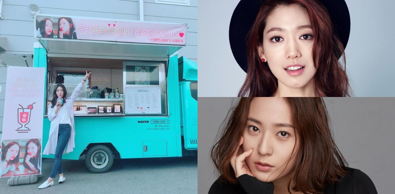 《继承者们》友情的延续! Krystal给朴信惠送咖啡车应援:「漂亮姐姐不要中暑! 」