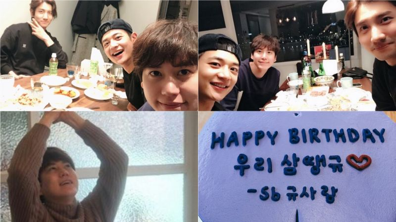 Super Junior圭贤与「圭LINE」东方神起昌珉、SHINee珉豪过生日!「5月快来啊~」
