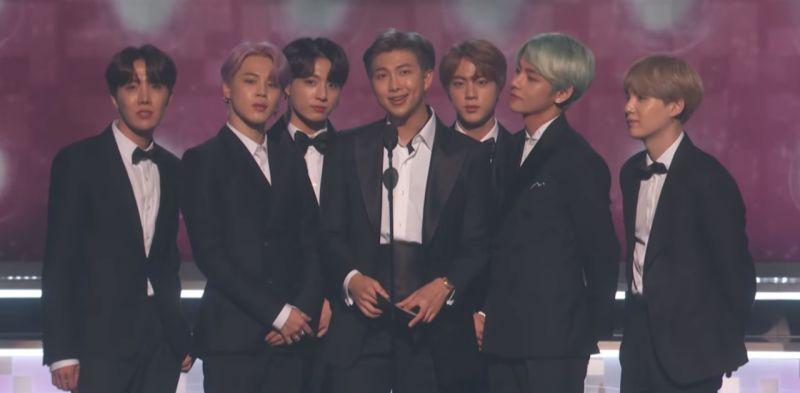 韩国第一团!BTS防弹少年团出席Grammys担任颁奖嘉宾