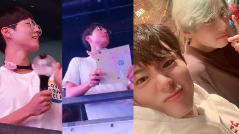 朴宝剑再次变身「小迷弟」啦!拿著手灯、手幅,为在香港举行演唱会的BTS防弹少年团应援!