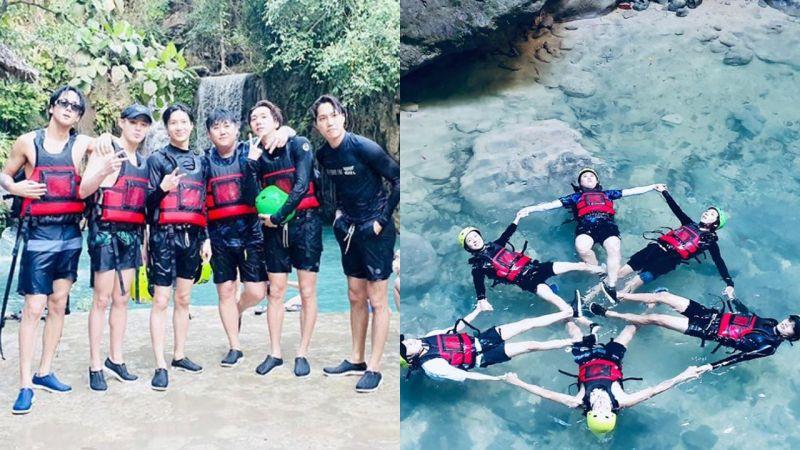 「友情羽绒服line」泰民、KAI、Ravi、河成云、TIMOTEO一起去度假消暑了!