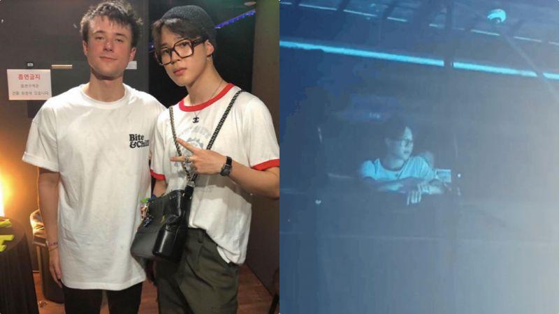 BTS防弹少年团JIMIN休假约好友看演唱会,名牌女包是亮点