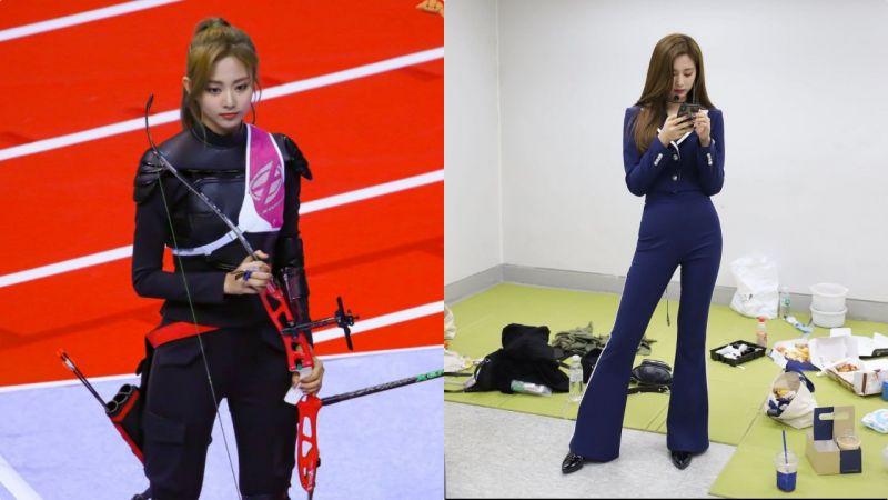 「射箭女神又来了♥」《偶像运动大会》别人是来参赛,TWICE子瑜可能是来刷新颜值的!