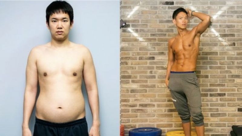 「被EXO选中的男人」张成奎也是减肥励志王啊!从大肚腩到巧克力腹肌就用了3周:前后对比太大
