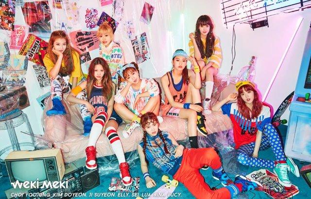 新人女团Weki Meki首张专辑《WEME》团体概念照公开