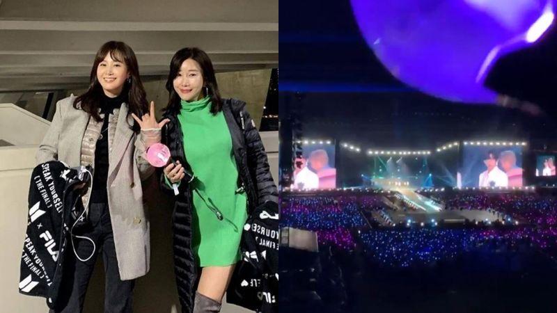 大前辈来啦!少女时代俞利Yuri去看了BTS防弹少年团的演唱会~