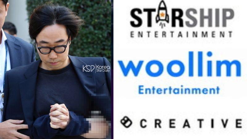 向《PRODUCE 101》制作组提供招待的演艺企划公司:STARSHIP娱乐、Woollim娱乐、8D Creative!