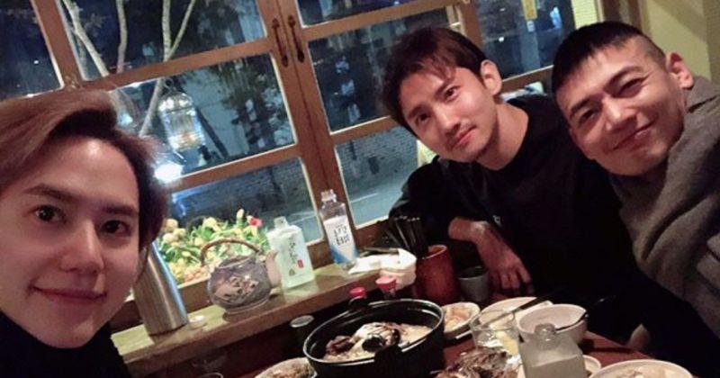 SM暖男集合! 圭贤&昌珉&珉豪聚餐PO合照超温馨