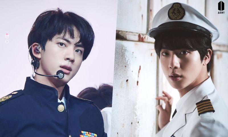 【多图】端正又清纯! BTS防弹少年团Jin的制服LOOK❤