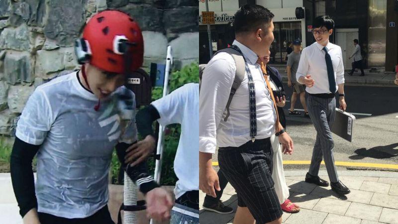 刘在锡被才气和人品掩盖了不输爱豆的好身材:长腿+腹肌!连EXO XIUMIN都要摸摸看
