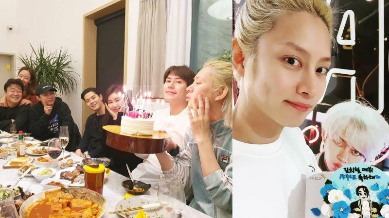 SJ希澈与圭贤、白种元等一同欢度出道15周年!网友:「《新西游记》里圭贤没能答出来的2位女艺人也在」